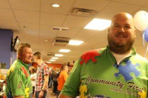 Autism Bowling fundraiser participants