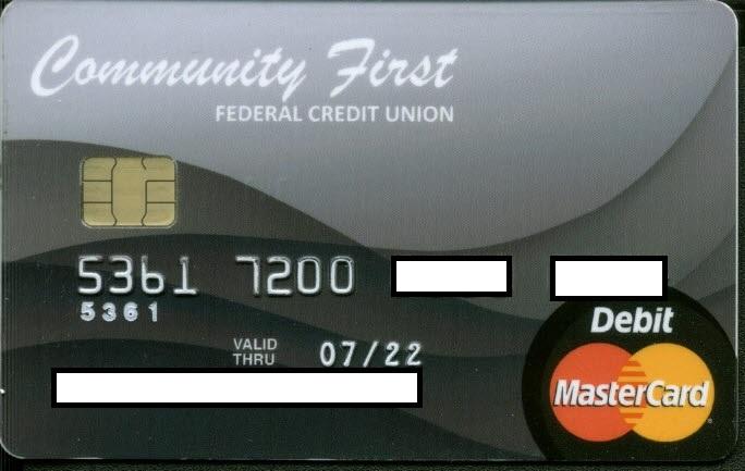 Debit Card design, black swirls