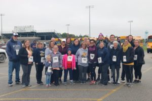 Credit Union runners and walkers at the Runfest 5k/10k at Lakeview 2018